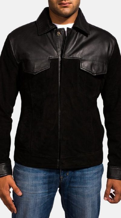 Fusion Black Suede Leather Jacket