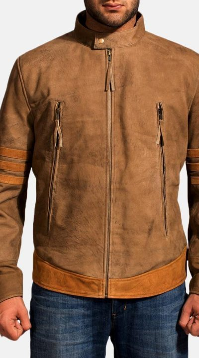 Wolf Brown Leather Jacket