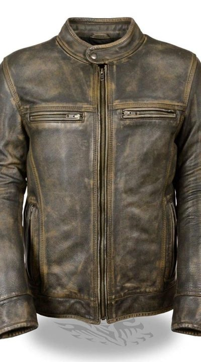 Cafe Racer Triple vintage leather motorcycle jackets