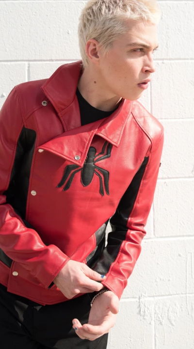 Men's Last Stand red and black leather jacket